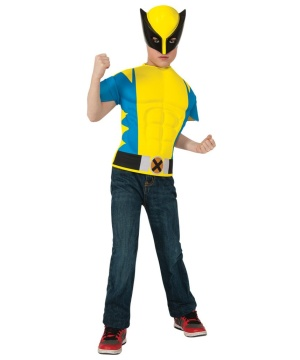 Wolverine Boys Muscle Costume Shirt