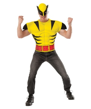 Wolverine Muscle Chest Mens Costume Shirt