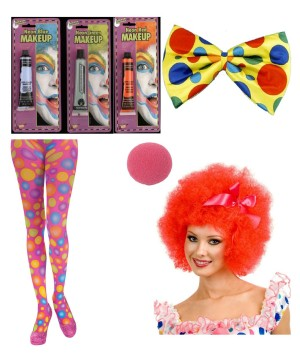 Clowning Around Women Clown Costume Kit