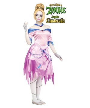 Womens Once Upon a Zombie Cinderella Costume