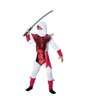 Ghost Shadow Ninja Boys Costume