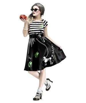50s Sock Hop Zombie Womens Costume