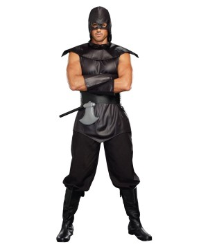 Dark Villainous Assassin Men Costume