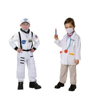 Astronaut and Doctor Boys Costumes