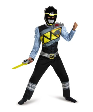Black Power Ranger Dino Charge Boys Muscle Costume