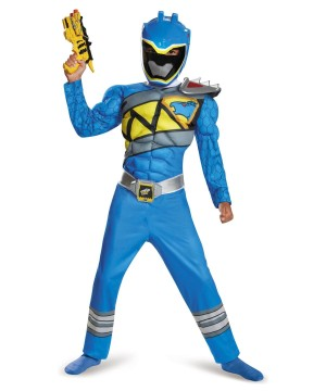 Dino Charge Blue Power Ranger Muscle Boys Costume