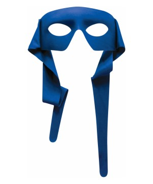 Blue large Eye Men Mask With Tie