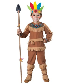Brave Little Warrior Indian Toddler Boys Costume
