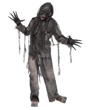 Burning Zombie Mens Costume
