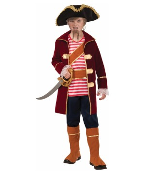 Captain Galley Scallywag Boys Pirate Costume