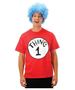 Cat in the Hat Thing 1 Shirt and Wig Costume Kit