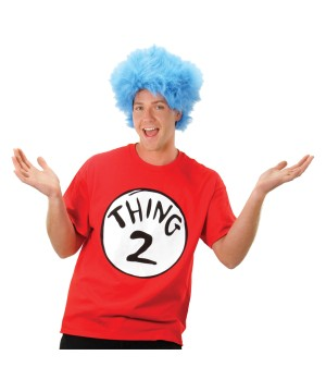 Cat in the Hat Thing 2 Shirt and Wig Costume Kit