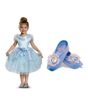 Cinderella Girls Costume Dress and Ballet Slippers