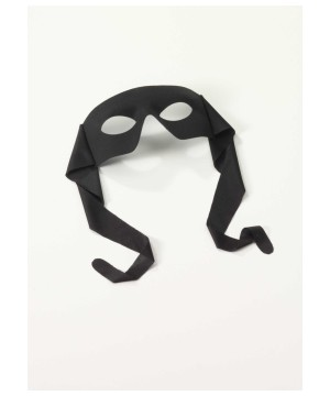 Classic Hero large Black Mens Tie Mask
