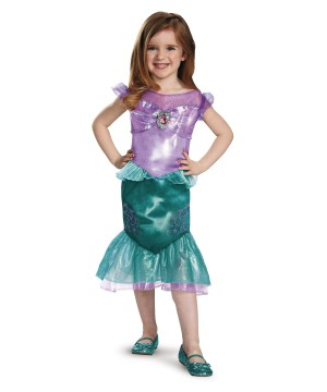 Classic Princess Ariel Girls Disney Dress Costume