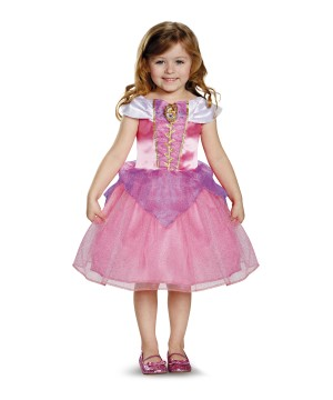 Classic Princess Aurora Girls Disney Dress Costume