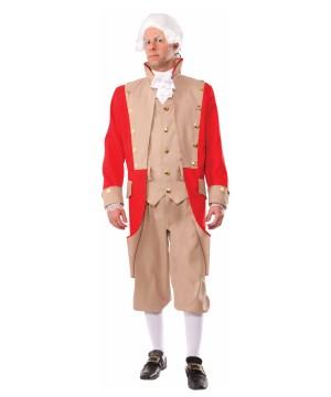 Colonial British Red Coat Mens Costume