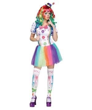 Color Fun Clown Hun Womens Costume