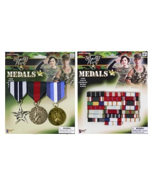 Combat Hero Military Medal and Bar Accessory Kit