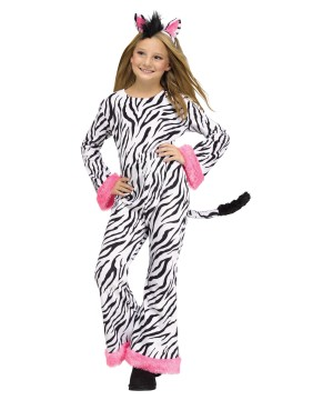 Cool Stripes Zebra Girls Costume