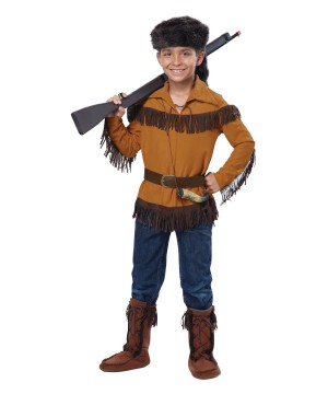 Cunning Frontier Boy Davy Crockett Boys Costume