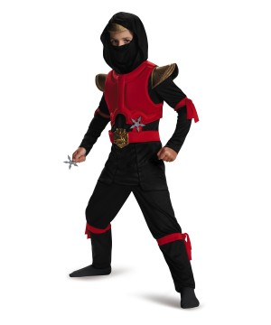 Dark Fire Two Tone Ninja Boys Costume deluxe