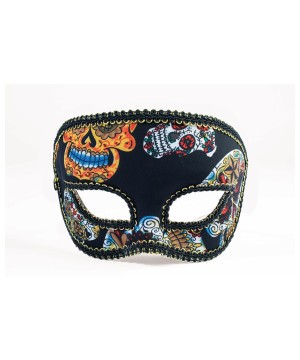 Day of the Dead Mens Stylish Skull Mask