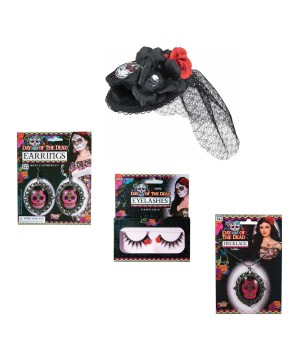 Day of the Dead Costume Kit Set