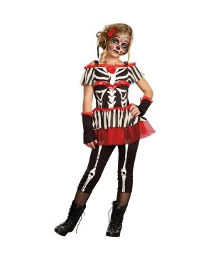 Senorita Bone-ita Day of the Dead Girls Costume