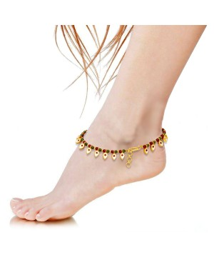 Designer Brass Payal Anklet 2 for 1 Duo