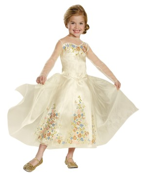 Disney Cinderella Wedding Dress deluxe Girls Costume