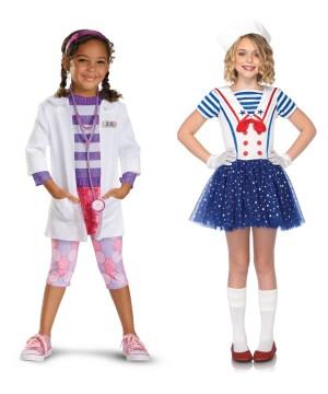 Disney Doc Mcstuffins and Sailor Sweetie Girls Costumes