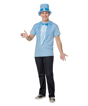 Dumb and Dumber Harry Dunne Blue T-shirt Mens Costume