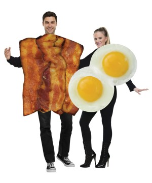 Eggs and Bacon Couple Costume