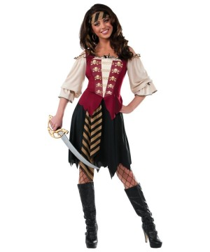 Elegant Pirate Buccaneer Womens Costume