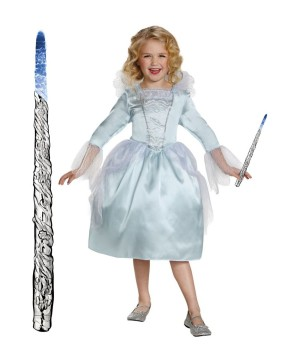 Fairy Godmother Girls Costume and Wand Gift Set