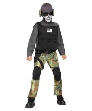 Fierce Skull Soldier Boys Costume
