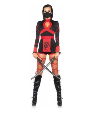 Fiery Dragon Womens Ninja Costume