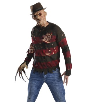 Freddy Krueger Sweater Flesh Costume  Scary Costumes - Scary Costumes
