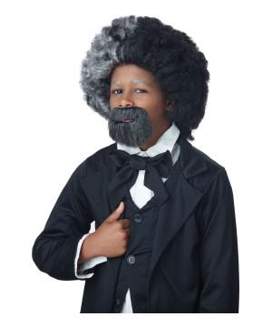 Frederick Douglass Boys Costume Wig and Goatee