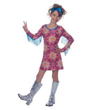 Free Spirit Hippie Girl Halloween Costume