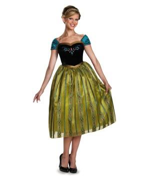 Frozen Anna Womens Coronation Costume deluxe