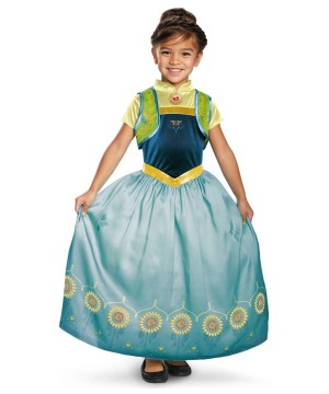 Disney Frozen Fever Anna Girls Costume