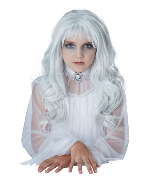 Ghostly Girl White Hair Wig