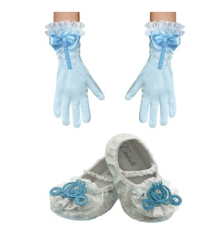 Girls Cinderella Movie Gloves and Shoes Accessory Gift Set