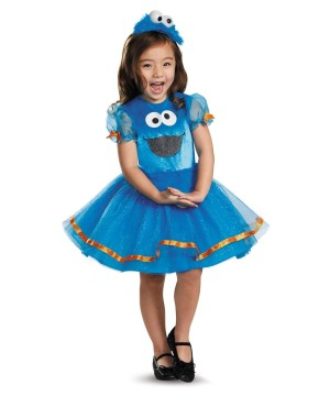 Sesame Street Cookie Monster Toddler Girls Tutu Costume