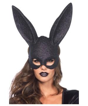 Glitter Masquerade Bunny Womens Mask