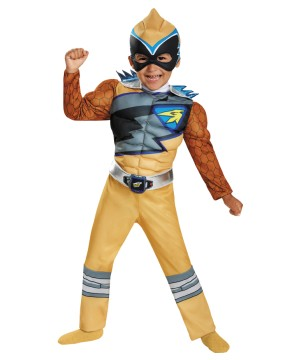 Gold Power Ranger Dino Charge Toddler Muscle Costume