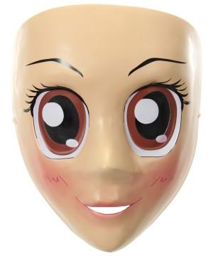 Googly Brown Eyes Anime Mask