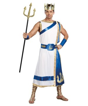 Greek Sea God Poseidon Mens Costume